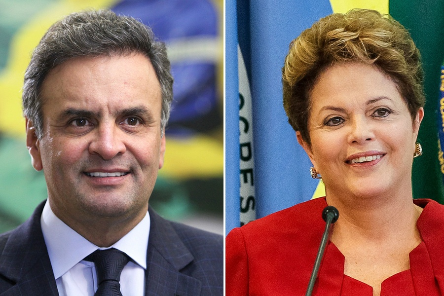 Dilma Rouseff e Aécio Neves