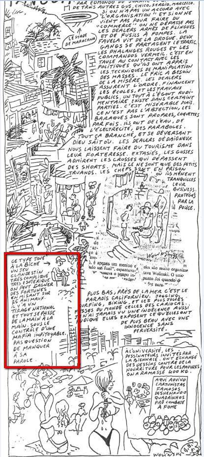 Desenho de George Wolinski sobre o Rio